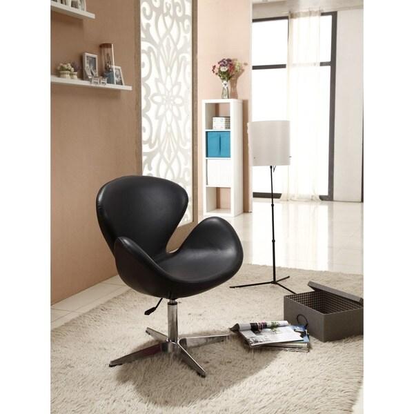 Shop Swan Black Leatherette Adjustable Chair Free
