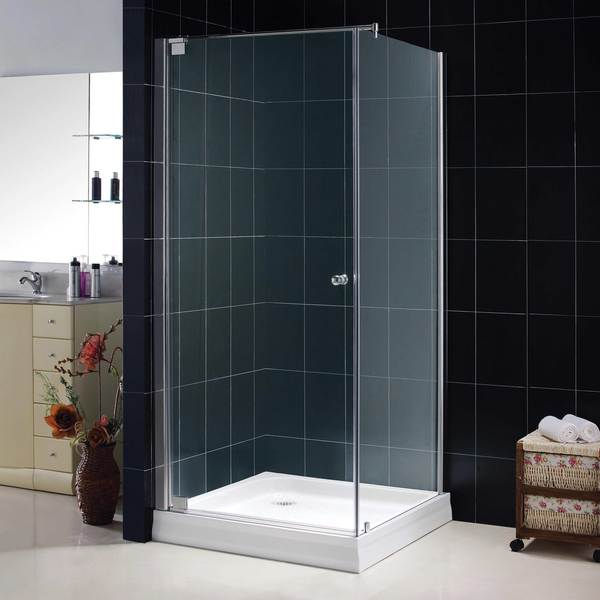 DreamLine TETRA 34-inch x 74-inch Frameless Glass Shower Enclosure