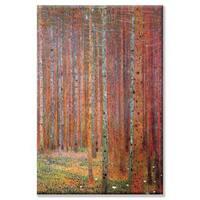 Gustav Klimt 'Tannenwald' Canvas Art