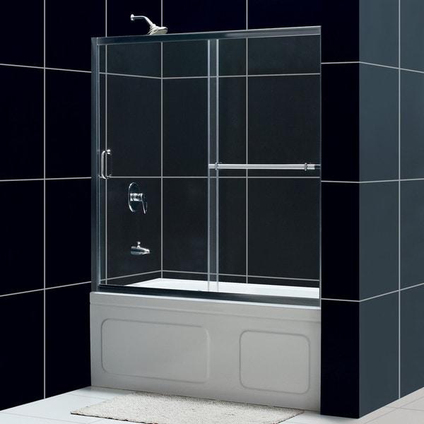 DreamLine Infinity Plus 56-60x58-inch Clear Glass Sliding Tub Door