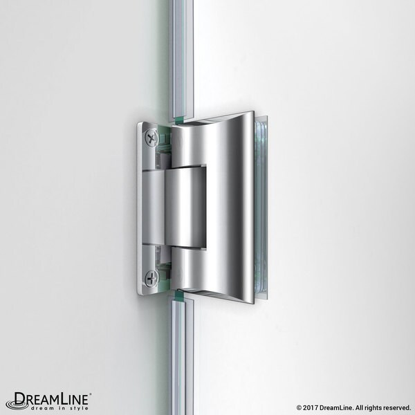 frameless hinged shower door free shipping today