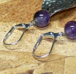 Susen Foster Silverplated 'Purple Rain' Amethyst Earrings