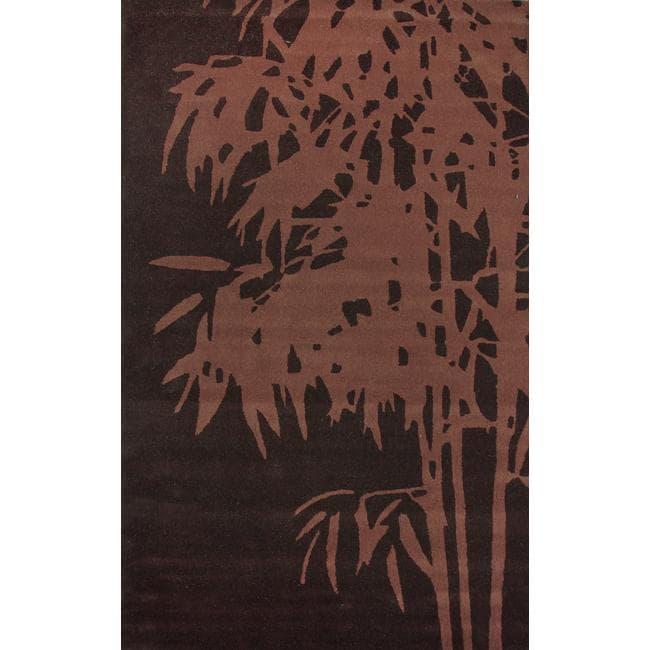 nuLOOM Handmade Moda Palm Tree New Zealand Wool Rug (5' x 8')