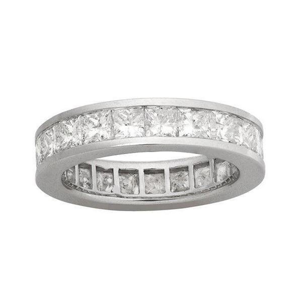 Montebello 14k White Gold 4ct TDW Diamond Eternity Wedding Band (H-I, I1)
