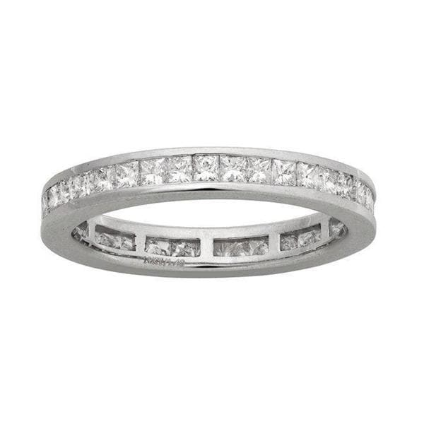 Montebello 14k White Gold 1 3/8ct TDW Diamond Eternity Wedding Band (H-I, I1)