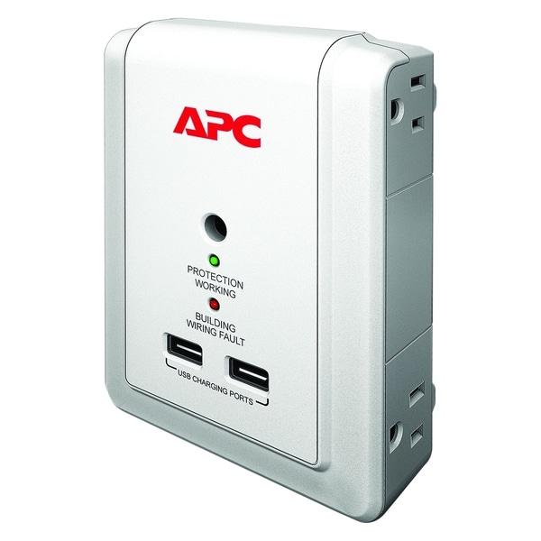 APC by Schneider Electric SurgeArrest Essential P4WUSB 4-Outlets Surg