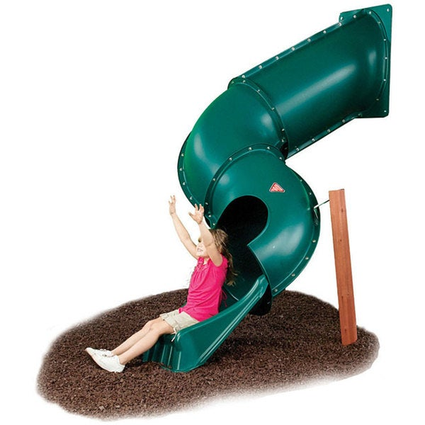 Swing-N-Slide Green Tunnel Twister Slide