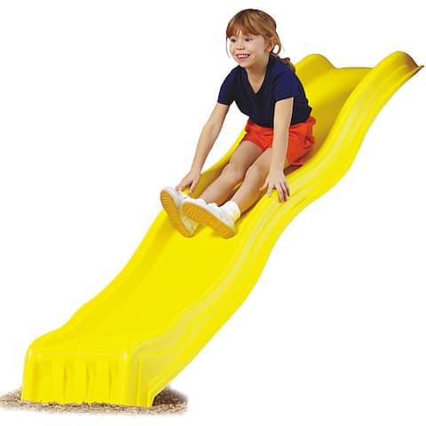 "Swing-N-Slide Yellow Cool Wave Slide - 90"" L x 21"" W x 8"" H"