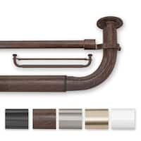 Pinnacle Barricade Metal 52 to 74-inch Energy Efficient Double Window Hardware Curtain Rods