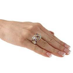 La Preciosa Sterling Silver Multi-Colored Gemstone Ring