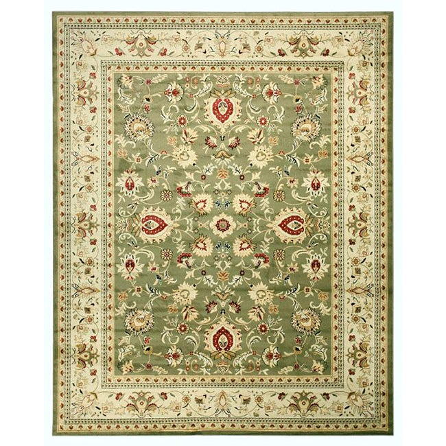Green Traditional Oriental Green Mahal Rug (5'3 x 7'3) - Thumbnail 0