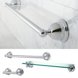Restoration Chrome 3-piece Shelf and Towel Bar Set