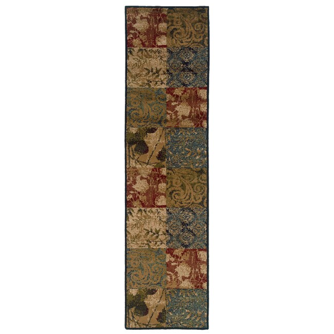 Block Motif Area Rug (1'10 x 7'3)