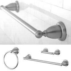 Heritage Satin Nickel 3-piece Bath Accessory Set