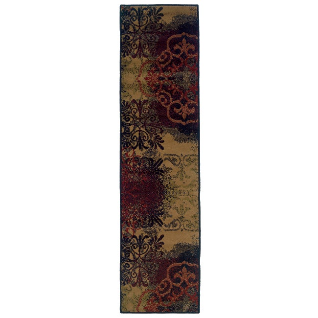 Abstract Gold Area Rug (1'10 x 7'3)