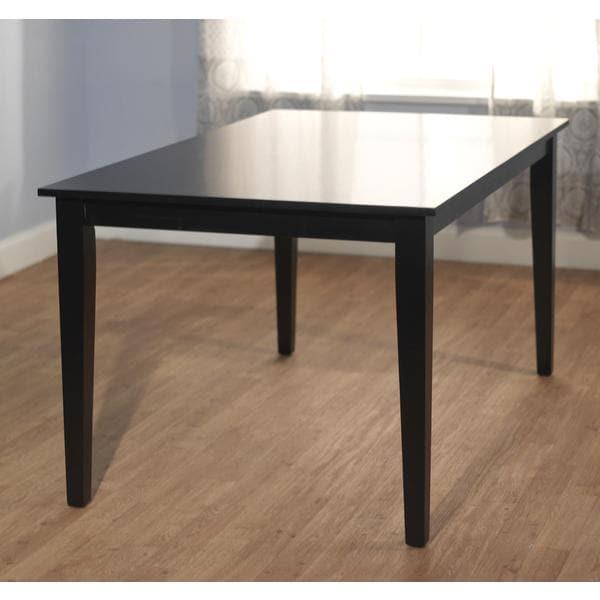 Simple living havana carson large wood dining table free for Simple wood dining table