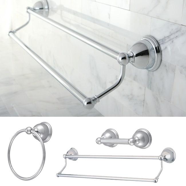 Restoration Chrome 3 Piece Double Towel Bar Set