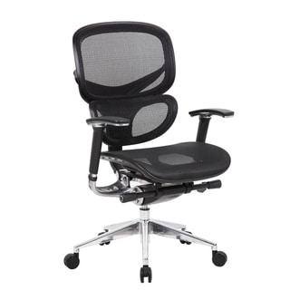 Boss Contemporary Ergonomic Black Mesh Chair