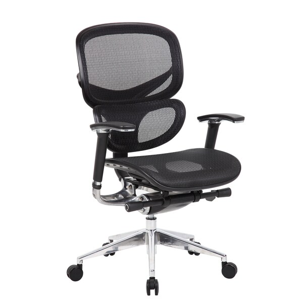 Boss Contemporary Ergonomic Black Mesh Chair