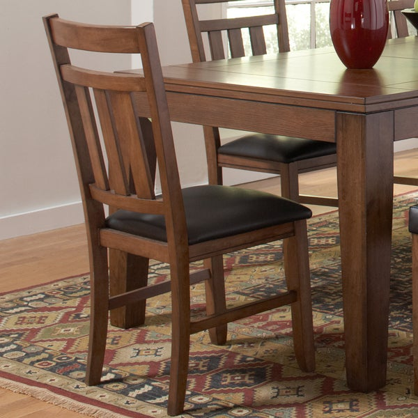 TRIBECCA HOME Kai Oak Brown Dining Chairs (Set of 2)