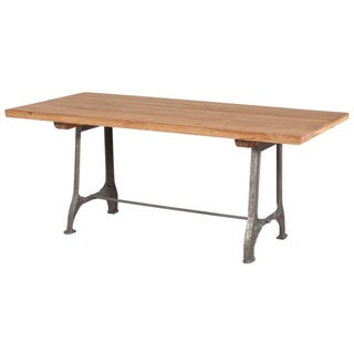 Industrial Reclaimed Teak Dining Table (India)