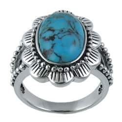Southwest Moon Sterling Silver Turquoise Flower Ring|https://ak1.ostkcdn.com/images/products/5967719/Southwest-Moon-Sterling-Silver-Turquoise-Flower-Ring-P13661717a.jpg?impolicy=medium