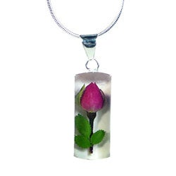 Sterling Silver Rose Flower Necklace (Mexico)