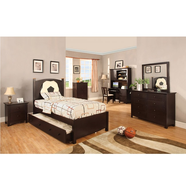 furniture of america jacob soccer theme twin size bedroom