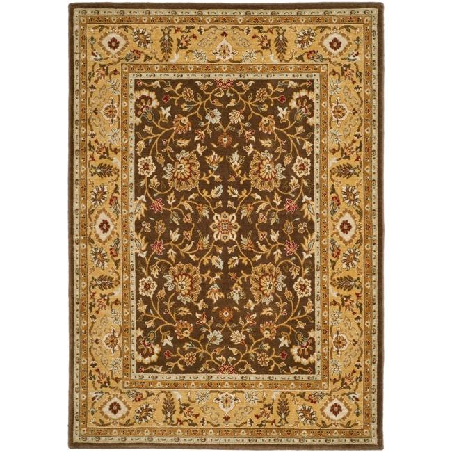 Safavieh Handmade Majesty Brown/ Gold New Zealand Wool Rug (4' x 5' 6 ) - Thumbnail 0