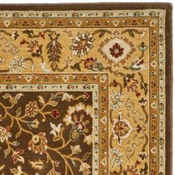 Safavieh Handmade Majesty Brown/ Gold New Zealand Wool Rug (4' x 5' 6 ) - Thumbnail 1