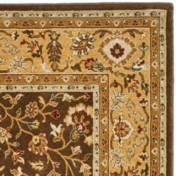 Safavieh Handmade Majesty Brown/ Gold New Zealand Wool Rug (4' x 5' 6 )
