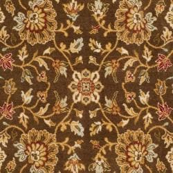 Safavieh Handmade Majesty Brown/ Gold New Zealand Wool Rug (4' x 5' 6 ) - Thumbnail 2