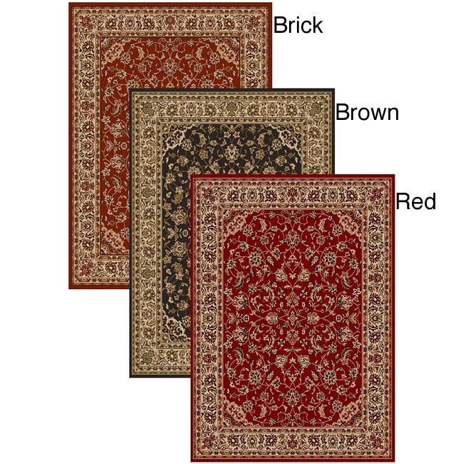 Admire Home Living Amalfi Sarouk Red Rug (5'5 x 7'7)