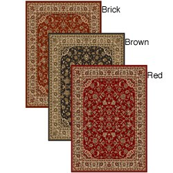 Admire Home Living Amalfi Sarouk Red Rug (5'5 x 7'7)