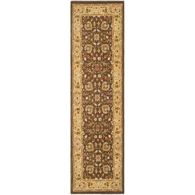 Safavieh Handmade Majesty Brown/ Gold New Zealand Wool Rug (2' 3 x 7' 6 )