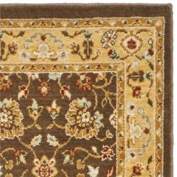 Safavieh Handmade Majesty Brown/ Gold New Zealand Wool Rug (2' 3 x 7' 6 ) - Thumbnail 1