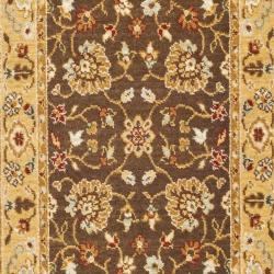 Safavieh Handmade Majesty Brown/ Gold New Zealand Wool Rug (2' 3 x 7' 6 ) - Thumbnail 2