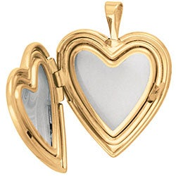 Gold over Silver Heart-shaped 'Mom' Rose Locket - Thumbnail 1