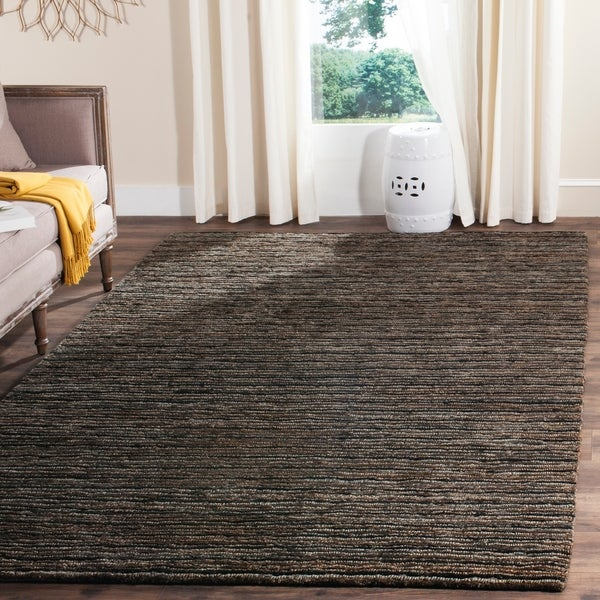 Safavieh Hand-knotted All-Natural Charcoal Grey Hemp Rug - 8' x 10'