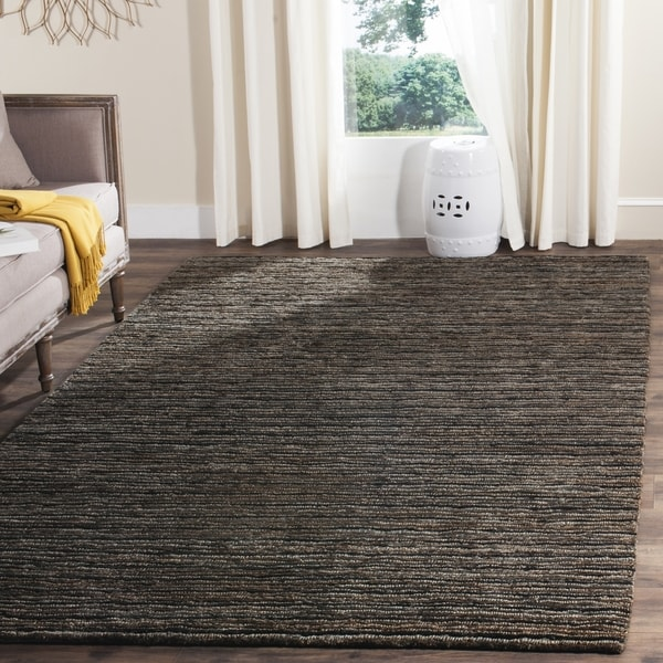 Safavieh Hand Knotted All Natural Charcoal Grey Hemp Rug