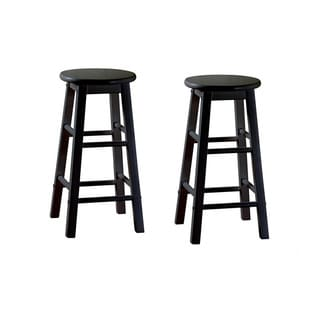 Abott Black 24-inch Counter Height Stools (Set of 2)