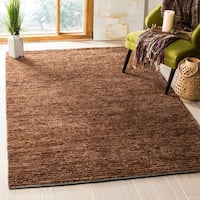 Safavieh Hand-knotted All-Natural Earth Brown Hemp Rug (6' x 9') - 6' x 9'