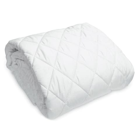 Natura Wash'N Snuggle Wool-Filled Mattress Pad - White