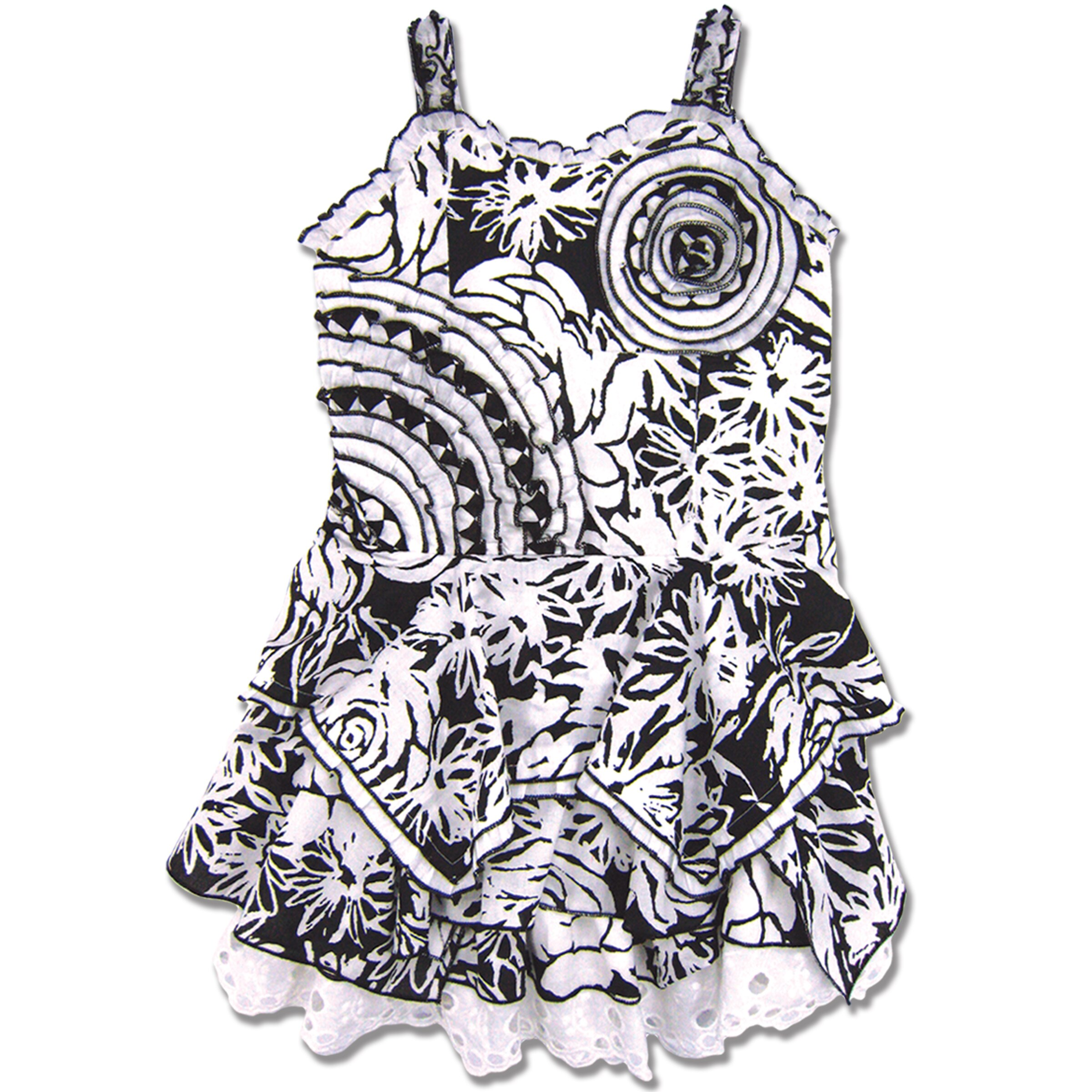 Beetlejuice London Girl's Floral Cotton Handkerchief Dress
