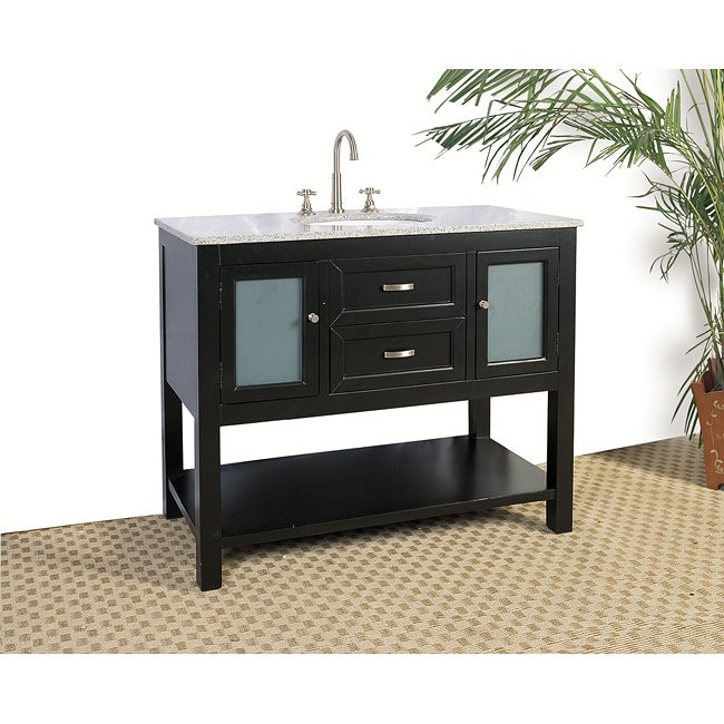granite top 42inch single sink bathroom vanity