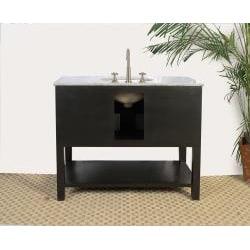 Granite Top 42-inch Single Sink Bathroom Vanity - Thumbnail 2