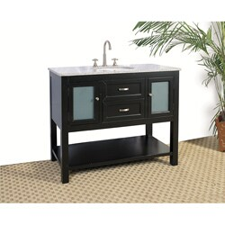 Granite Top 42-inch Single Sink Bathroom Vanity