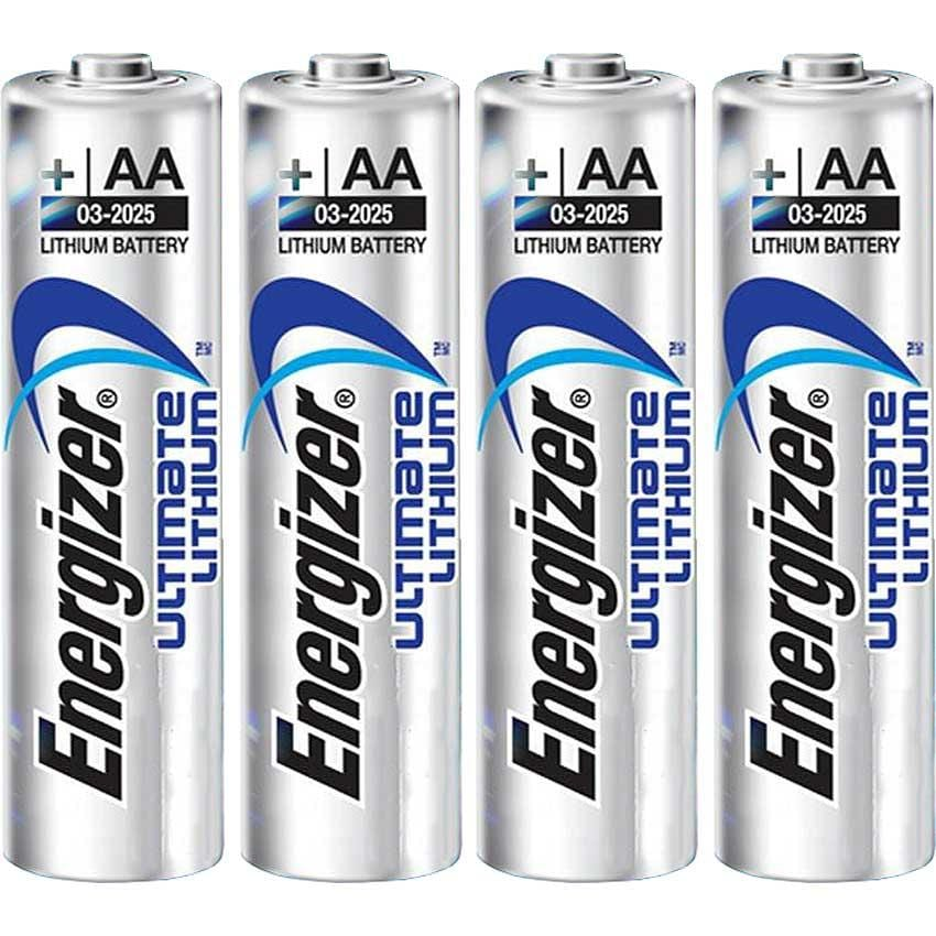 Energizer Ultimate Lithium AA Batteries (Pack of 4)