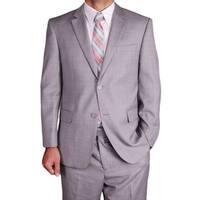 Men's Light Grey Wool 2-button Suit