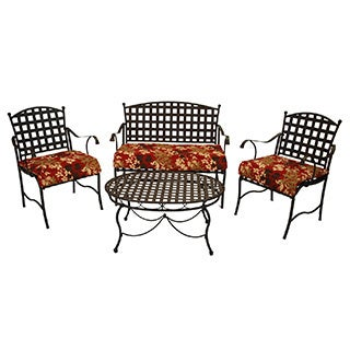 All-Weather UV-Resistant Settee Group Polyester Outdoor Cushions (Set of 3)